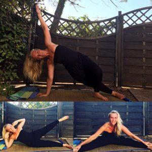 Postures : Side Kick & Side Bend